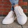 xti 42451 White and gold trainers sole sister