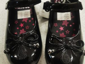 Bow Sparkle School Shoes