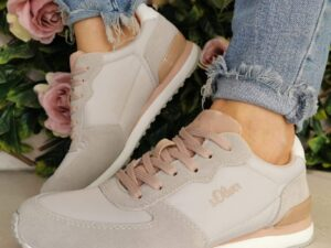 S Oliver 23634 Grey/Rose Trainers
