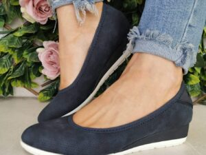 S Oliver 22302 Navy Low Wedge