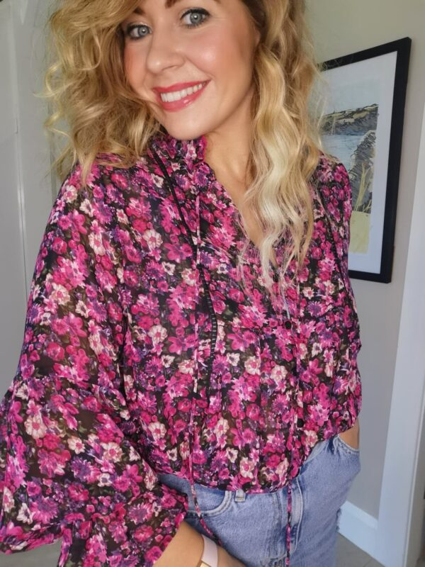 Kirsty Purple blouse Sole Sister