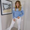 Rant n Rave Joanna Blue Stripe Jumper