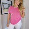 Rant n Rave Ivy Tee Pink Feather