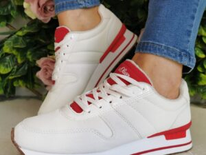 S Oliver 23612 White Red Trainers