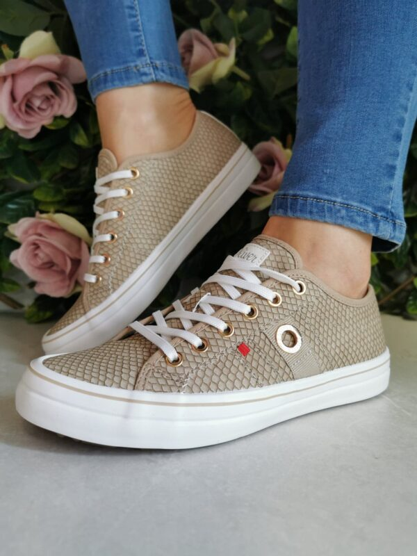 S Oliver 23640 Taupe Snake Sole Sister 1