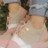 Sole Sister Beige and Pink Trainers 2