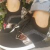 Sole Sister Black and White Trainers