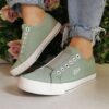 S Olver Green Slip On Trainers Sole Sister