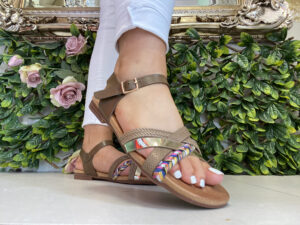 Lunar Louisa Brown Sandals