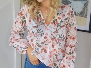Joanne Country Style V Neck Blouse