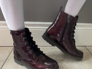 XTI 57750 Burgundy  Patent Kids Ankle Boots