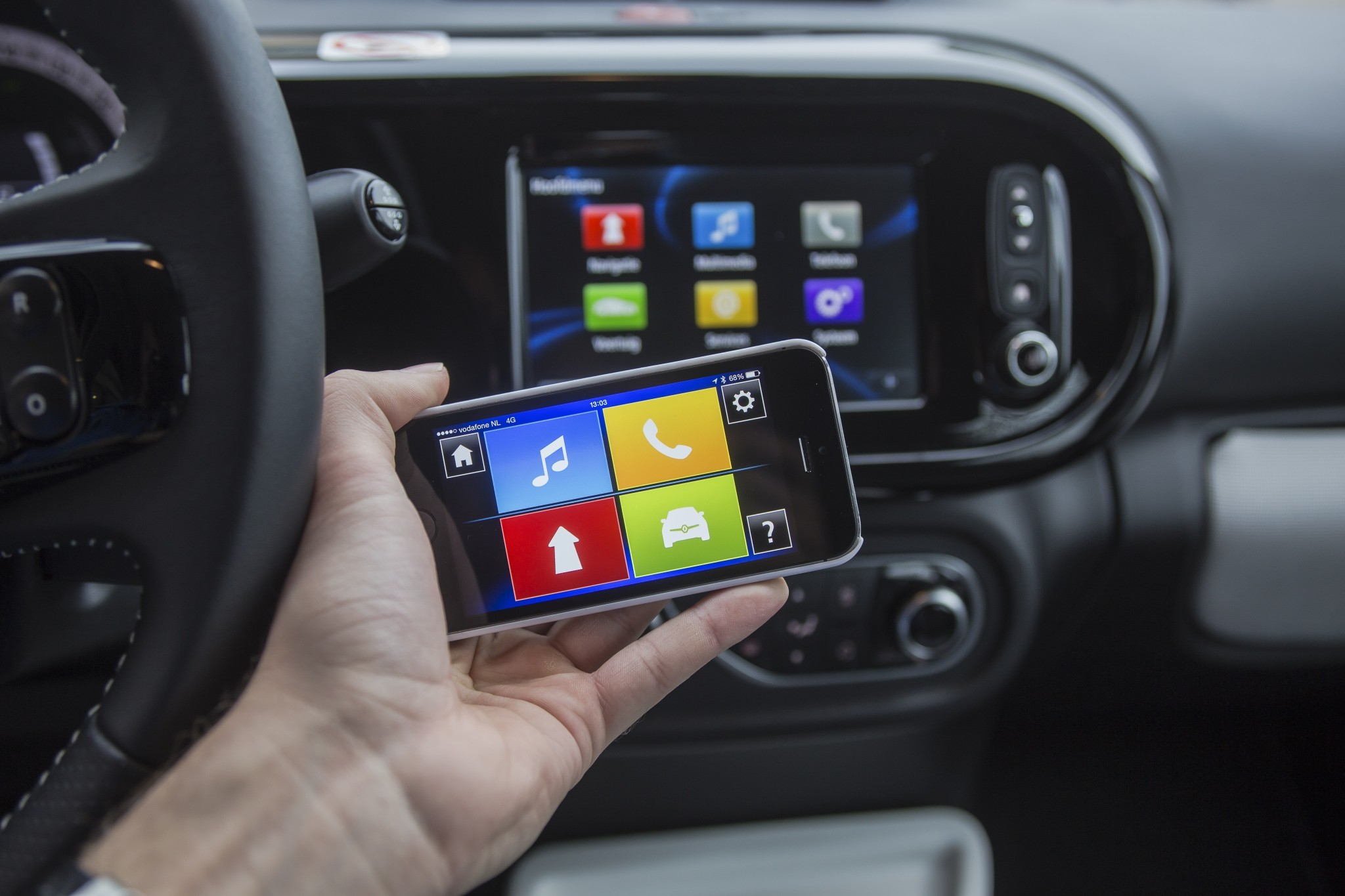R-Link, MirrorLink, IntelliLink en Carplay
