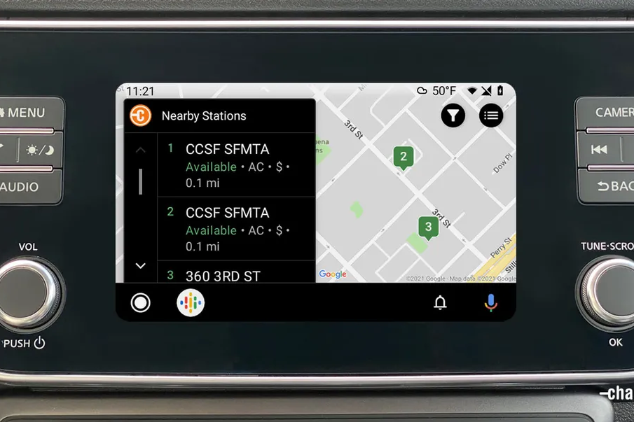 Android Auto Chargepoint Mirrorlink