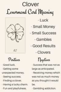 Lenormand Card Clover Meanings