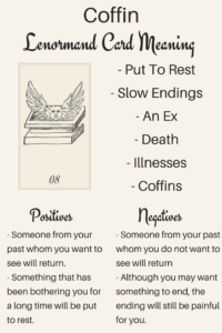 Coffin Lenormand Card Meaning Illustration - Lenormand Oracle