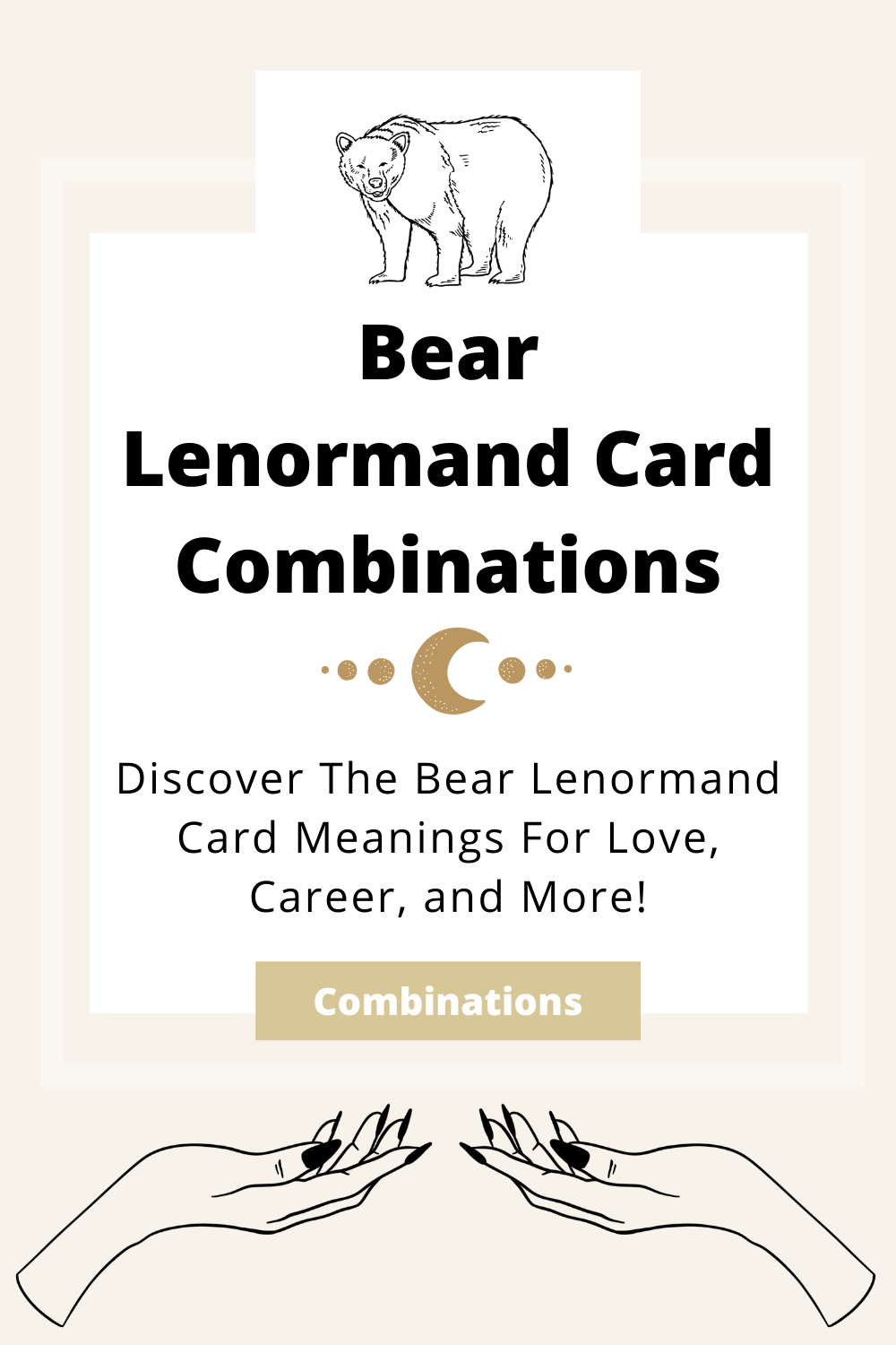 Learn the beginner Bear Lenormand Card combinations for general readings, love, business, career and more! Learn how to combine the Bear card with the Diviners Lenormand deck.