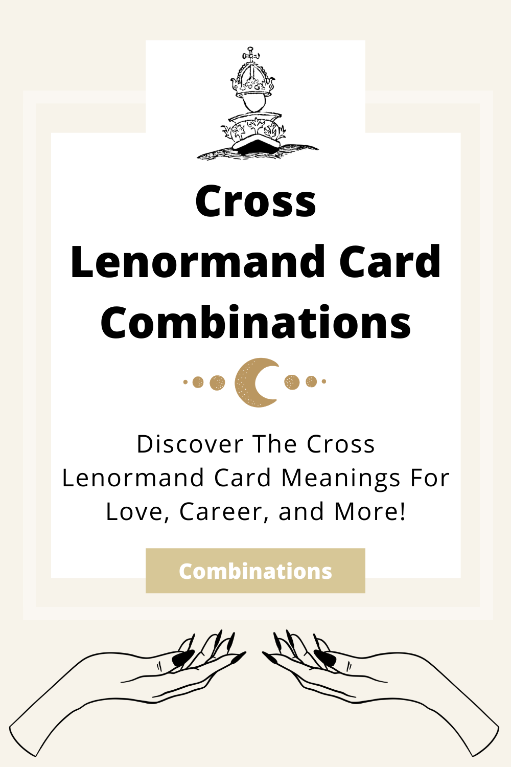 Learn the beginner Cross Lenormand Card combinations for general readings, love, business, career and more! Learn how to combine the Cross card with the Diviners Lenormand deck.
