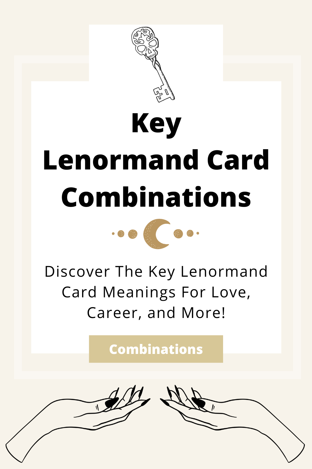 Learn the beginner Key Lenormand Card combinations for general readings, love, business, career and more! Learn how to combine the Key card with the Diviners Lenormand deck.