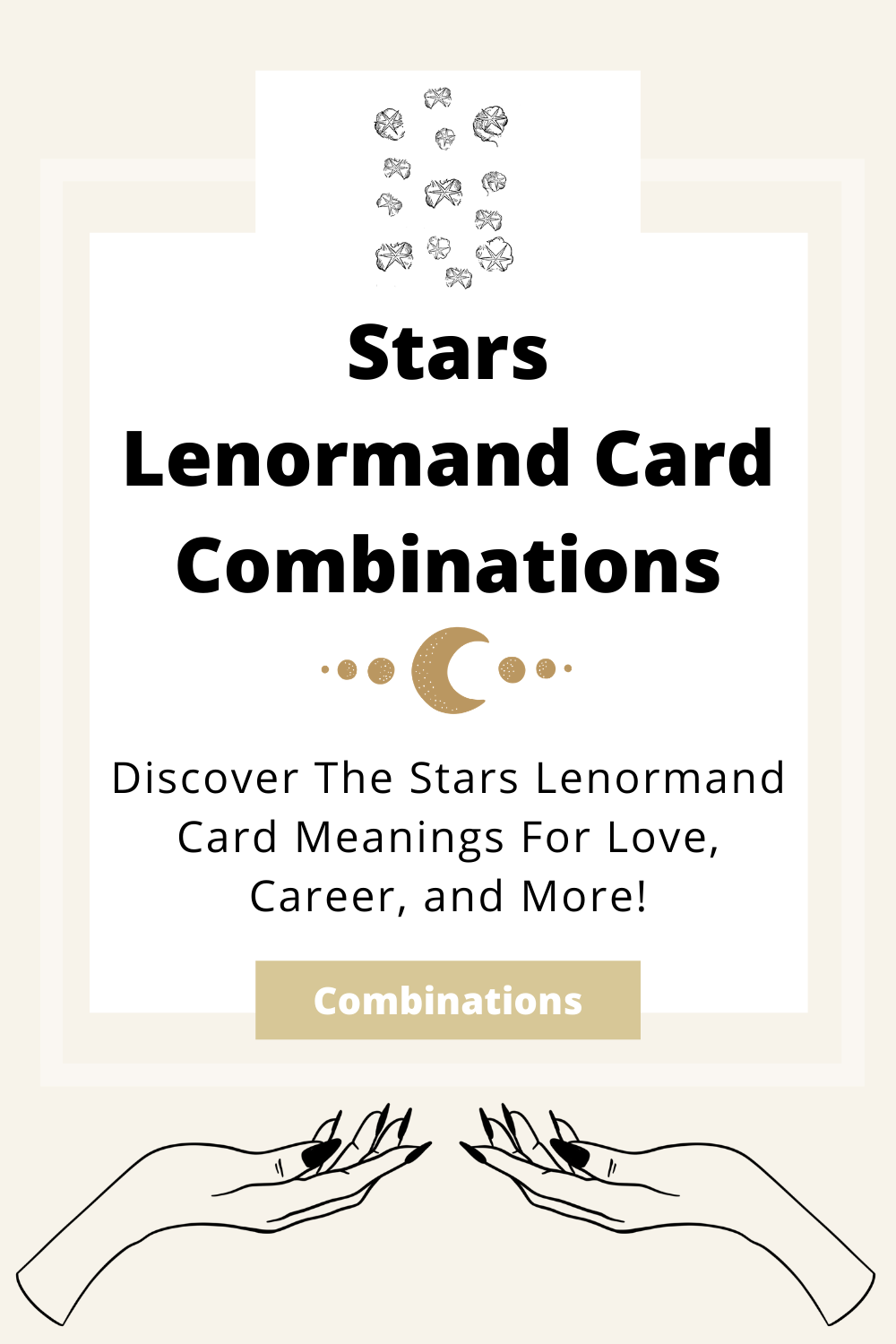 Learn the beginner Stars Lenormand Card combinations for general readings, love, business, career and more! Learn how to combine the Stars card with the Diviners Lenormand deck.