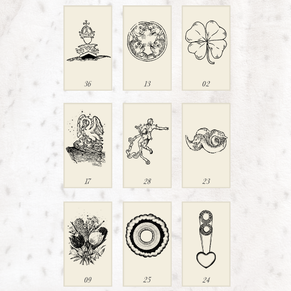 Nine-Card Lenormand Spreads - Example of a Square Spread and how to read one for beginners