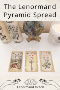 Want a Lenormand card spread you can use for readings with or without a question? That is what the Lenormand Pyramid Spread is for! Here is how to read one!