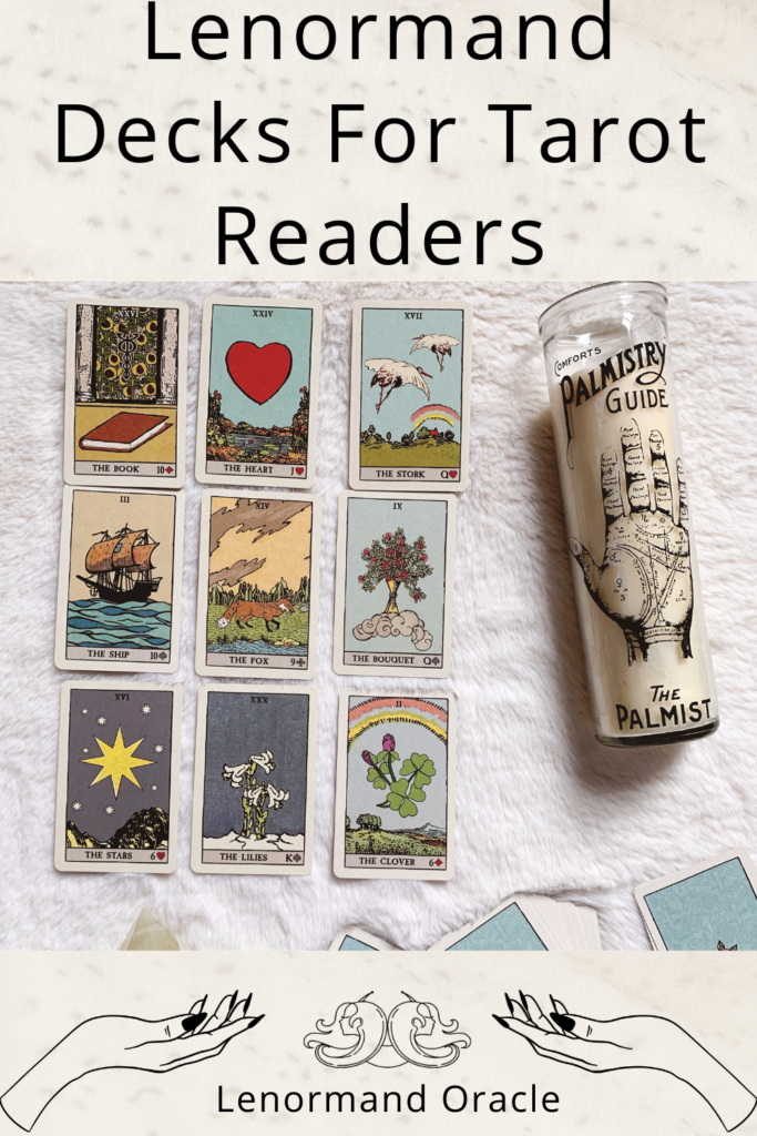 Beginner Lenormand Decks for Tarot card readers who love the rider Waite smith