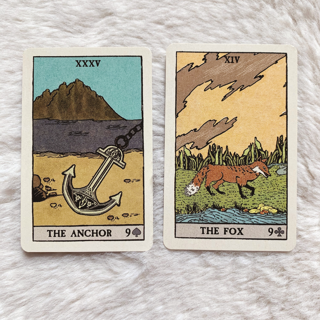 Lenormand Anchor Combinations - Anchor and Fox