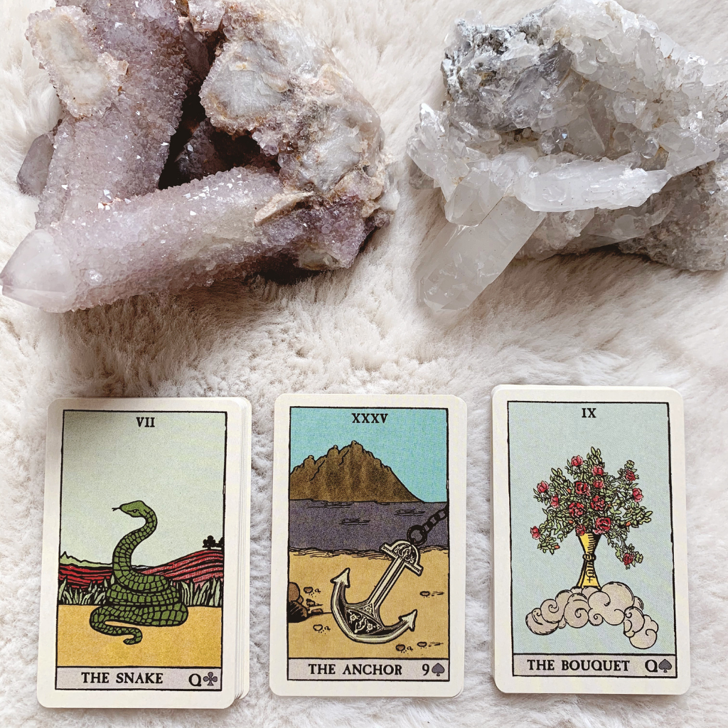 Lenormand Anchor Combinations - Snake, Anchor, Tree