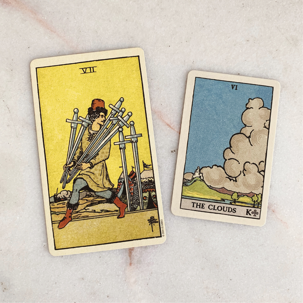 Lenormand Clouds Meaning - Clouds Tarot Card