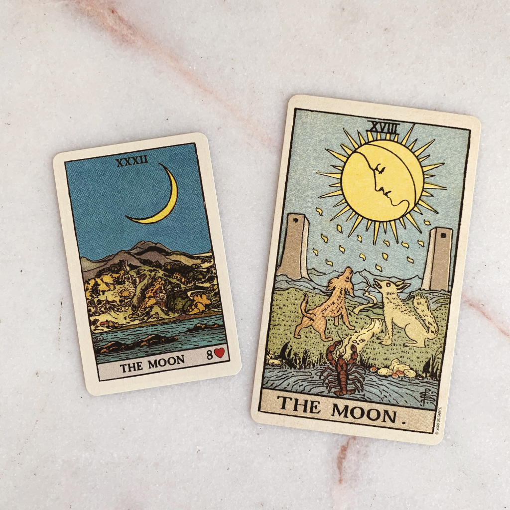 Lenormand Moon Meaning - Moon Tarot Card