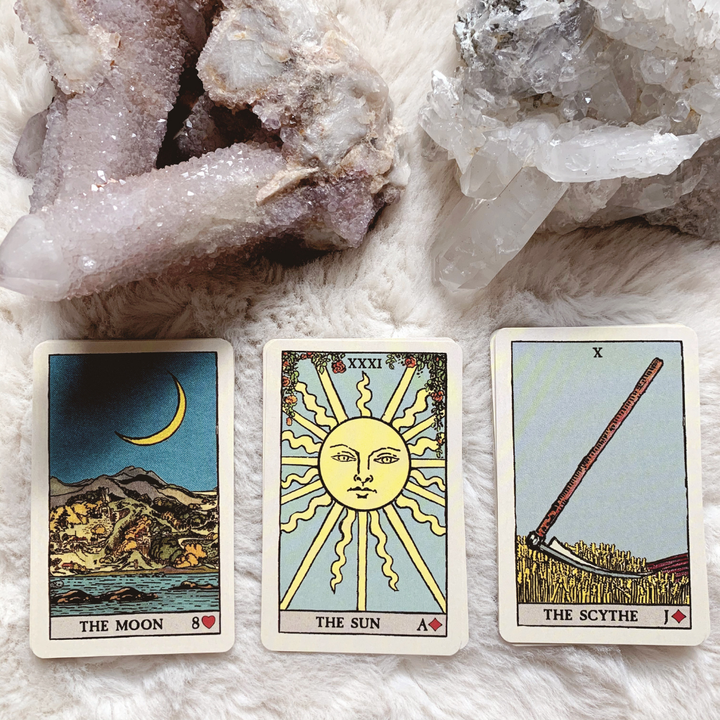Lenormand Sun Combinations - Moon, Sun and Scythe