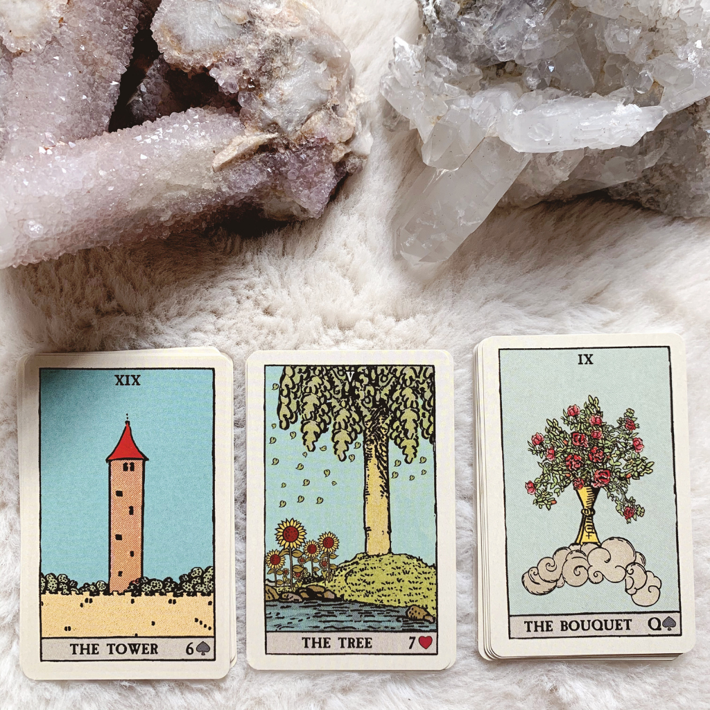 Lenormand Tree Combinations - Tower, Tree and Bouquet