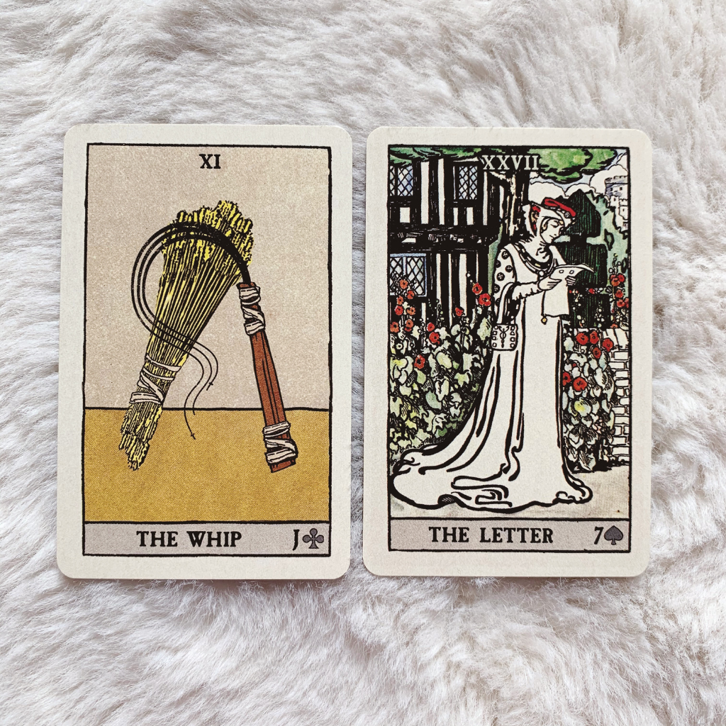 Lenormand Whip Combinations - Whip and Letter