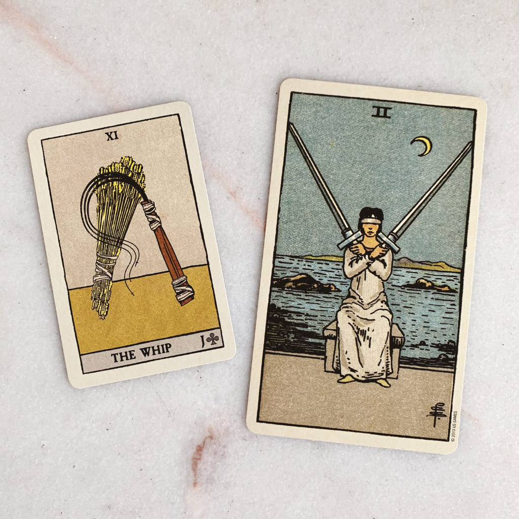 Lenormand Whip Meaning - Whip Tarot Card