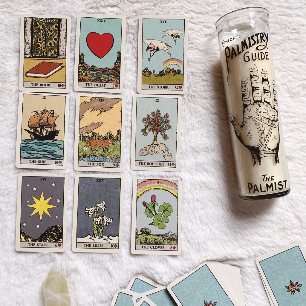 Pixies Astounding Lenormand Review - examples of some cards