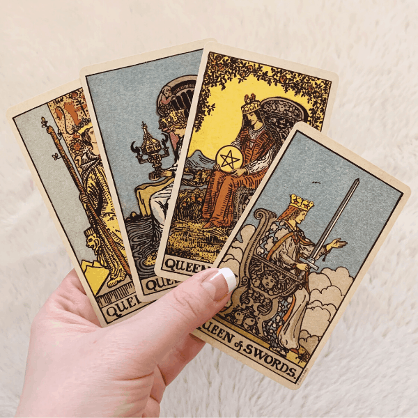 Four Queens, Three Queens, Two Queens in a Tarot reading