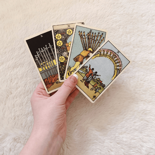 Four Tens, Three Tens, Two Tens in a Tarot reading