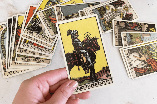 8 Knight of Pentacles Tarot Meanings: Love, Outcomes, Feelings & More!