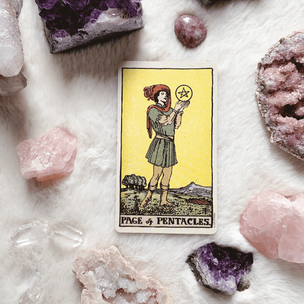Page of Pentacles Tarot meaning for relationships, love, outcome, future, ex returningcPage of Pentacles for relationships, love, outcome, future, ex returning, yes or no