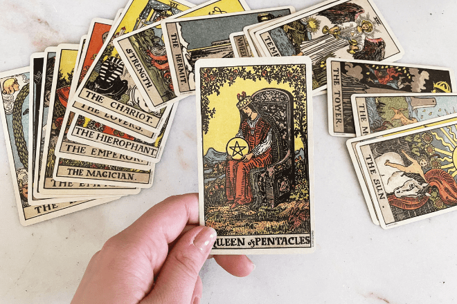 8 Queen of Pentacles Tarot Meanings: Love, Outcomes, Feelings & More!