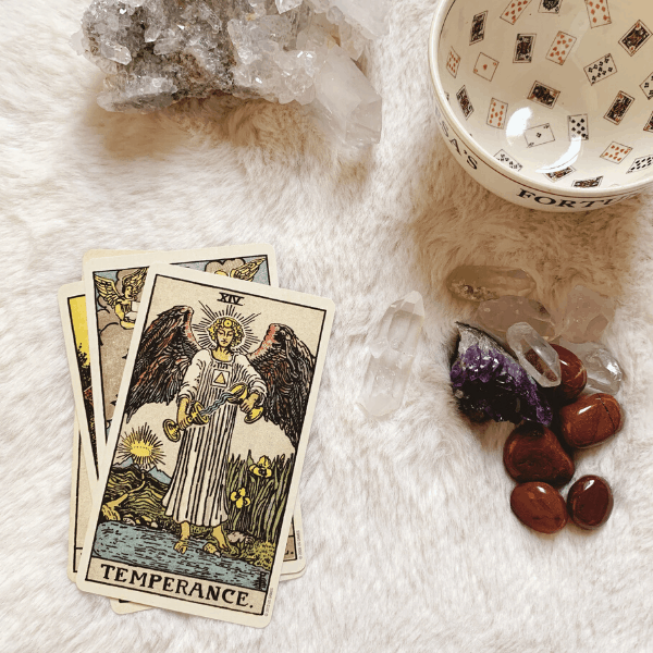 Temperance Tarot meaning for relationships, love, outcome, future, ex returning