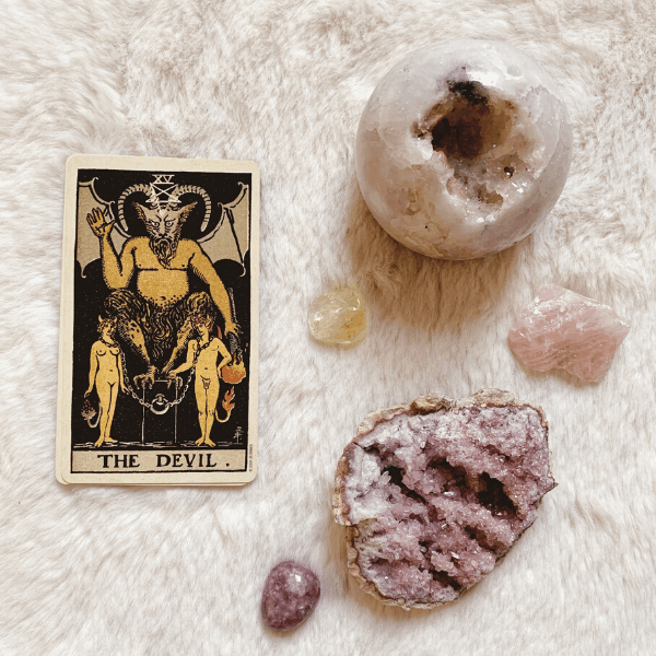 The Devil Tarot meaning for relationships, love, outcome, future, ex returning