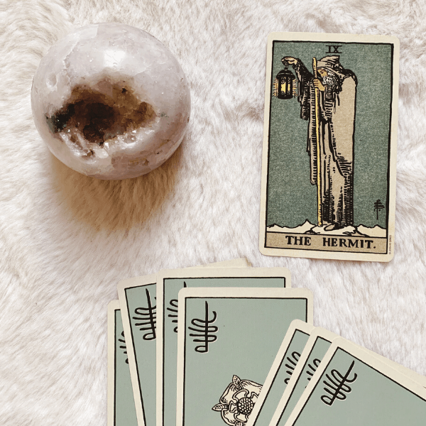 The Hermit Tarot meaning for relationships, love, outcome, future, ex returning