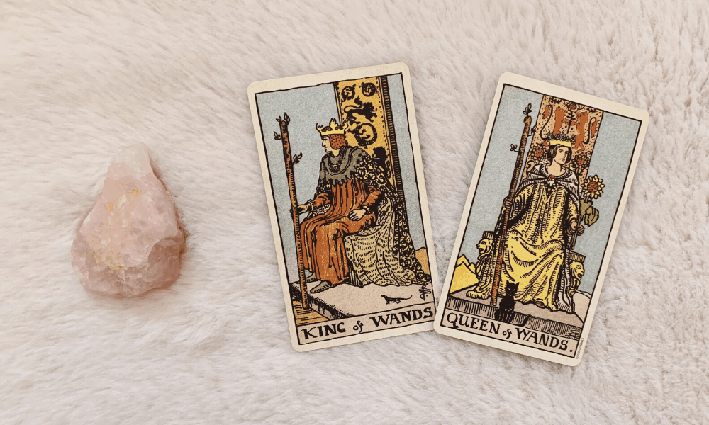 King and Queen of Wands Together