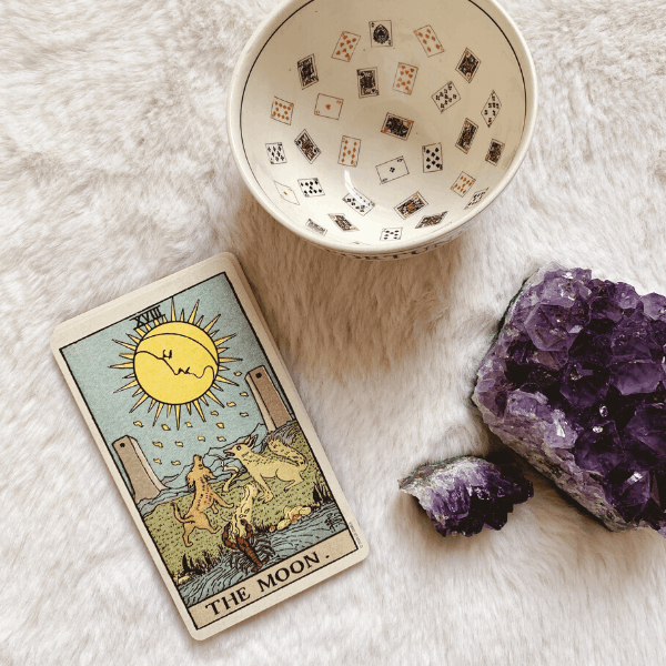 The Moon Tarot meaning for relationships, love, outcome, future, ex returning