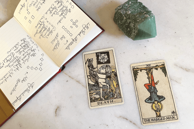 Tarot cards that predict physical death