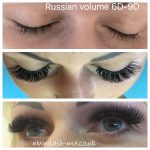 Russian Volume mink eyelash extensions 3D – 9D
