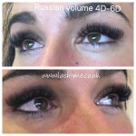 Russian Volume mink eyelash extensions 4D – 6D