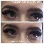 Russian Volume mink eyelash extensions 6D – 9D