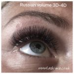 Russian Volume mink eyelash extensions known as 3D – 4D